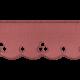 Lace Scalloped Ribbon- Pink