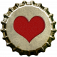 Red Heart Bottle Cap Top