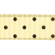 Polka Dot Ribbon- Cream & Brown