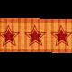 Star Ribbon- Orange & Red