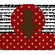 Red Polka Dot Arrow Tab