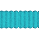 Blue Scalloped Ribbon
