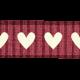 Heart Ribbon- Pink & White