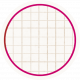 White & Pink Circle Grid Tag