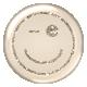 Emoticon Glitter Brad- Tan