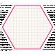 Hexagon Grid Tag- Pink & White