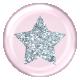 Star Glitter Brad- Pink & Silver