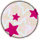Circle Grid Tag with Stars