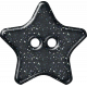 Plastic Glitter Star- Navy