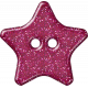 Plastic Glitter Star- Hot Pink