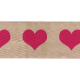 Twill Ribbon with Pink Hearts