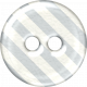 White & Gray Striped Plastic Button