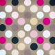 Polka Dots Paper 44- Pink & Brown