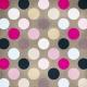 Polka Dots Paper 44- Pink & Brown
