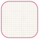 Square Grid Tag- White & Pink