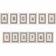 Plastic Tan & Navy Glitter Stamp Alpha