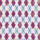Argyle 18 Paper - Purple, Pink & Blue