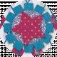 Paper Glitter Flower- Pink & Blue