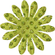 Paper Flower 01- Green Glitter
