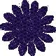 Paper Flower 01- Purple Glitter