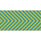 Fat Ribbon- Chevron 01- Blue & Green