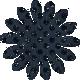 Paper Flower 01- Navy Glitter