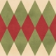 Argyle 15 Paper- Red & Green