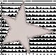 Light Gray Glitter Star