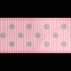 Medium Ribbon- Polka Dots 01- Pink & Gray