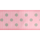 Medium Ribbon- Polka Dots 01- Pink & Gray
