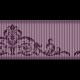 Medium Ribbon - Ornamental 01 - Purple