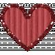 Cardboard Glitter Heart- Red- Small