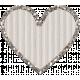 Cardboard Glitter Heart- White