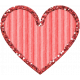 Cardboard Glitter Heart- Pink