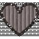 Cardboard Glitter Heart- Gray