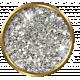 Versailles Glitter Brad- White