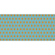 Fat Ribbon- Polka Dots 02- Blue & Orange