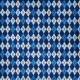 Blue Argyle Paper