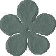 Paper Flower 09- Teal