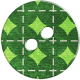 Green Argyle Button