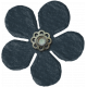 Amsterdam Small Paper Flower- Navy
