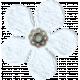 Amsterdam Small Paper Flower- White