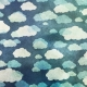 Rainy Days Papers- Navy Clouds