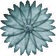 Rainy Days- Aqua Blue Flower