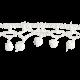 Frozen Crochet Border- White