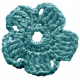 Frozen Crochet Flower- Aqua