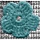Frozen Crochet Flower- Aqua