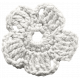 Frozen Crochet Flower- White