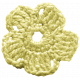 Frozen Crochet Flower- Yellow