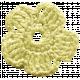 Frozen Crochet Flower- Yellow